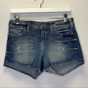 Silver Jeans Distressed Berkeley Shorts